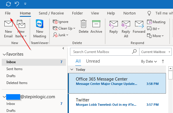 outlook-file-tab-shared-mailbox