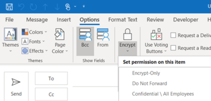 Send Encrypt Email Messages in Outlook 2013